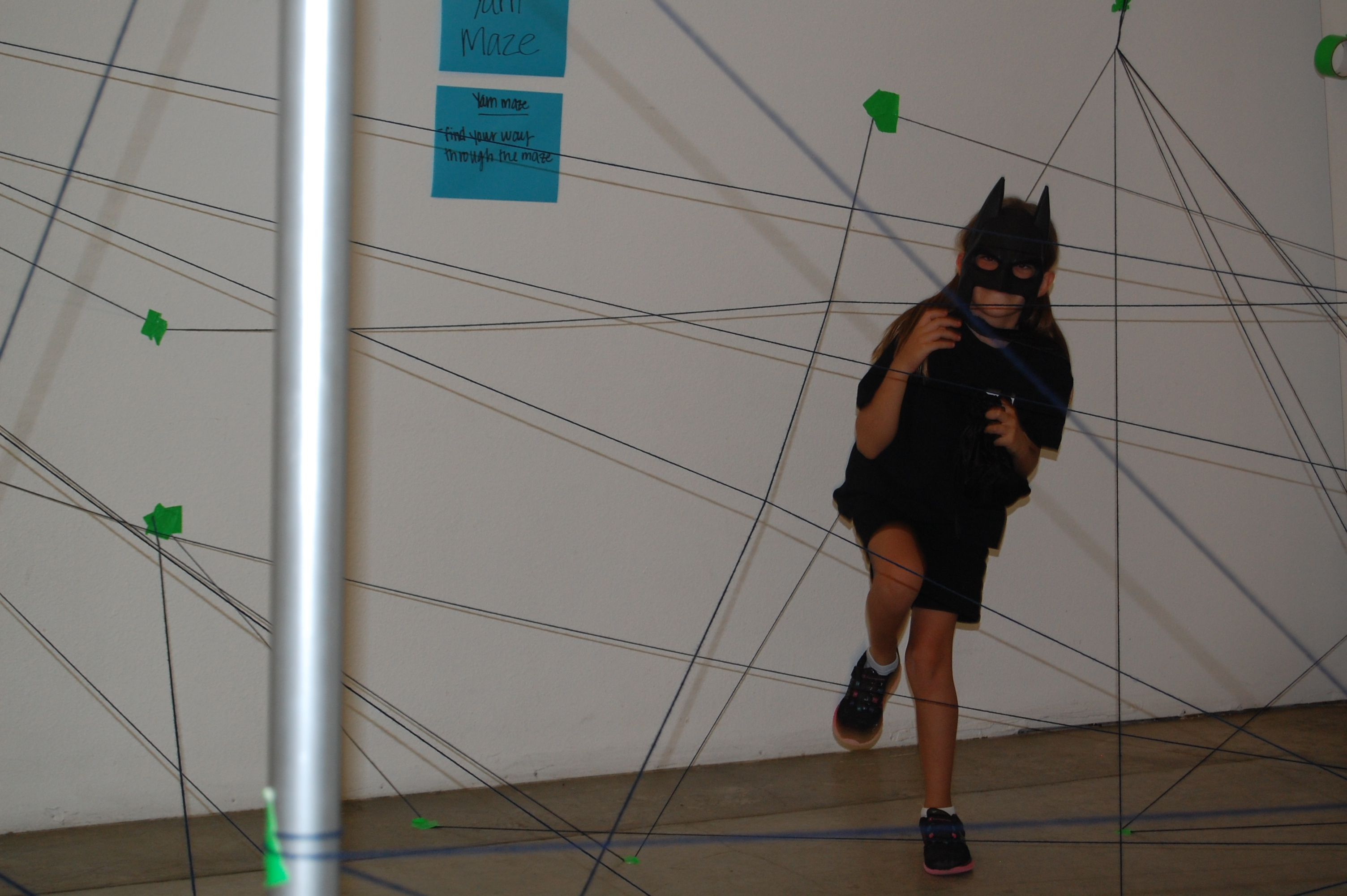 going through the spider web