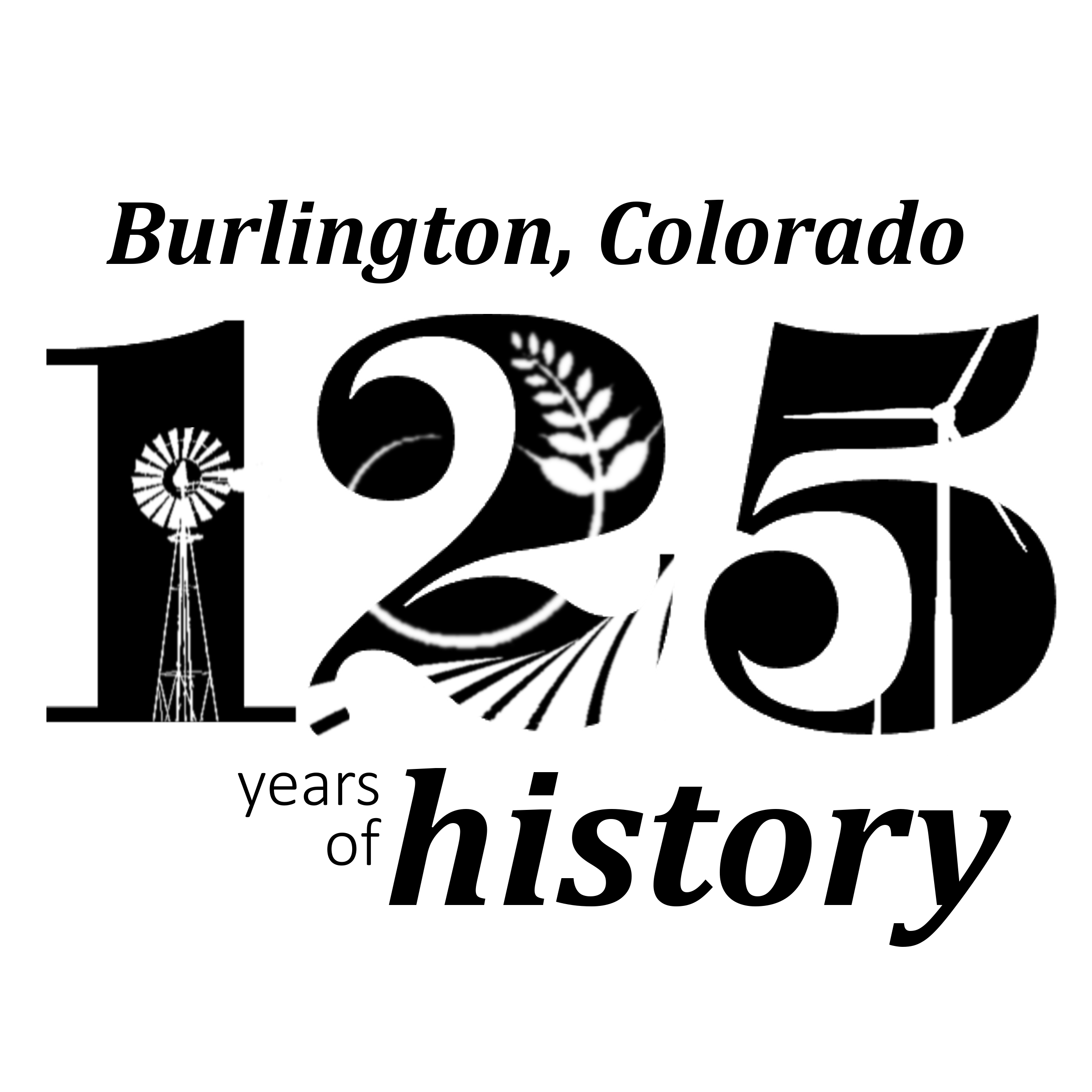 Burlington Colorado 125th Anniversary Logo