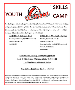 Volleyball Skills Camp Flyer