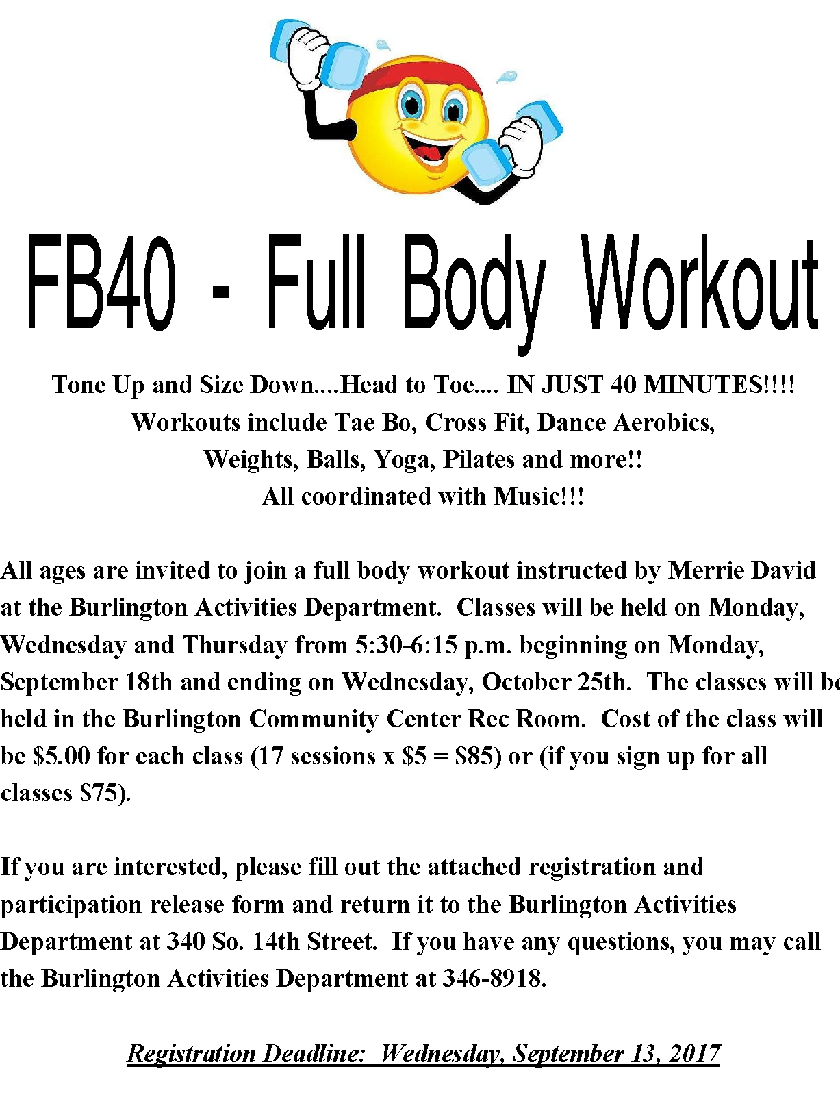 FB40 Full Body Workout Flyer